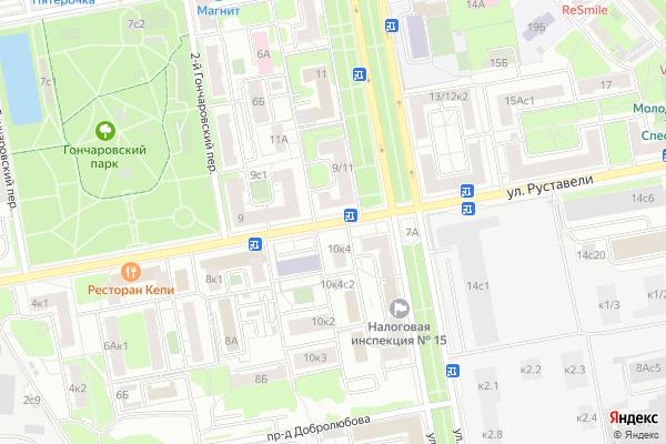 Ремонт телевизоров Улица Руставели на яндекс карте