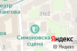 Схема проезда до компании Московский Драматический театр им. Рубена Симонова в Москве