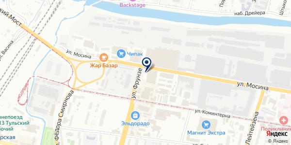 Магазин обоев и натяжных потолков на карте Туле