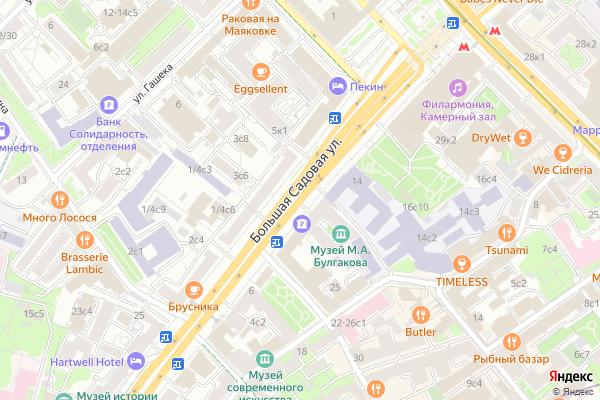 Ремонт телевизоров Улица Большая Садовая на яндекс карте