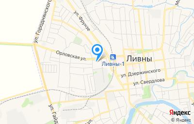 Местоположение на карте пункта техосмотра по адресу Орловская обл, г Ливны, ул Селитренникова, д 5