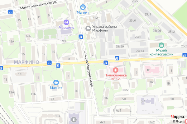 Ремонт телевизоров Улица Академика Комарова на яндекс карте