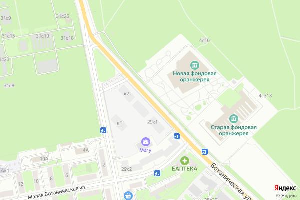 Ремонт телевизоров Улица Ботаническая на яндекс карте