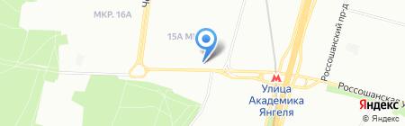 Почтовое отделение №117534 на карте Москвы