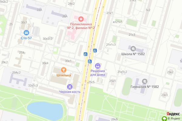 Ремонт телевизоров Улица Чертановская на яндекс карте