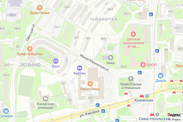 Ремонт телевизоров Улица Малая Юшуньская на яндекс карте