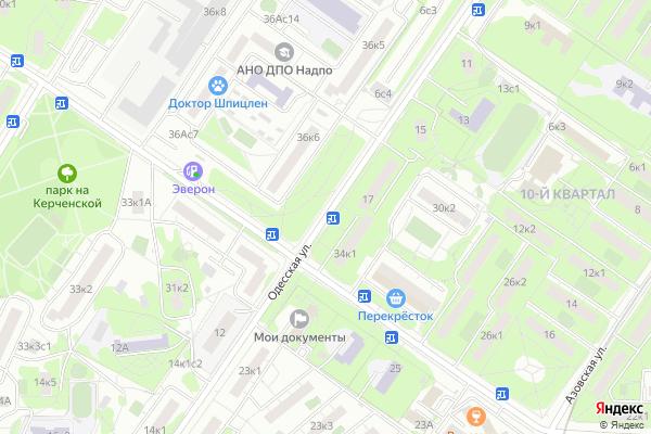 Ремонт телевизоров Улица Одесская на яндекс карте