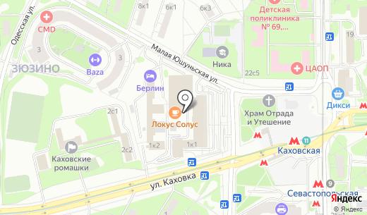 Пурпур. Схема проезда в Москве