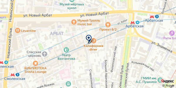 Крымские Каникулы на карте Москве