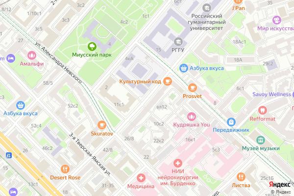 Ремонт телевизоров Улица Чаянова на яндекс карте