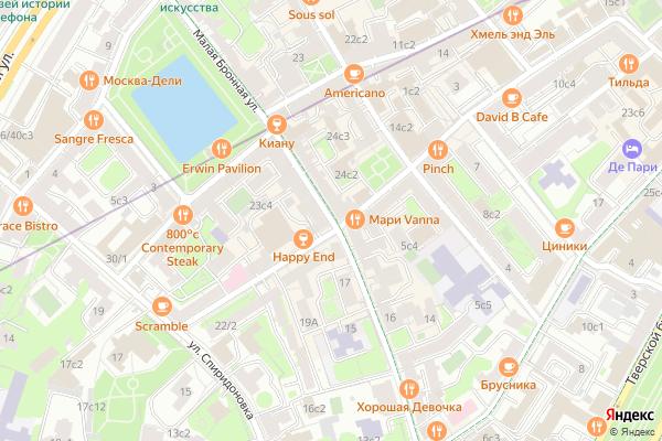 Ремонт телевизоров Улица Малая Бронная на яндекс карте