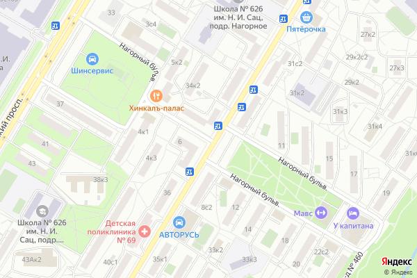 Ремонт телевизоров Нагорный бульвар на яндекс карте