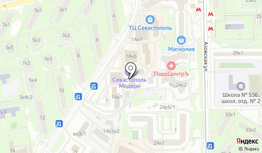 Севастополь. Схема проезда в Москве