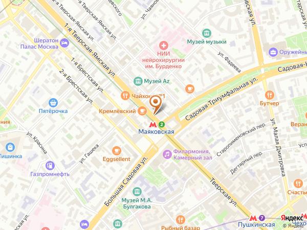 Остановка «Метро Маяковская», 1-я Тверская-Ямская улица (1753) (Москва)