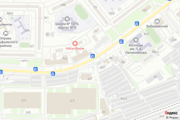 Ремонт телевизоров Улица Бибиревская на яндекс карте