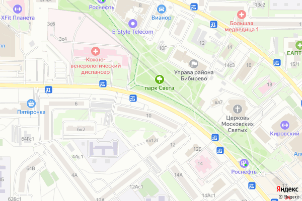 Ремонт телевизоров Улица Костромская на яндекс карте