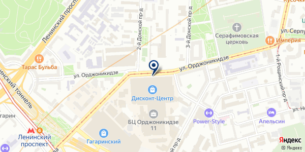 Стиларт на карте Москве