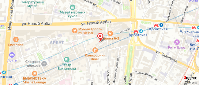 Карта расположения пункта доставки Москва Арбат в городе Москва