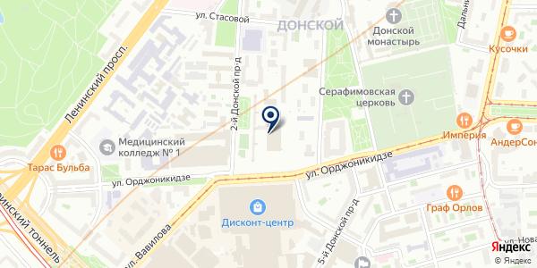 Столовая на карте Москве