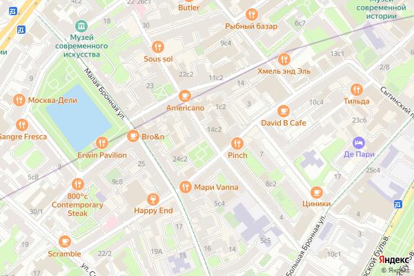 Ремонт телевизоров Большой Козихинский переулок на яндекс карте