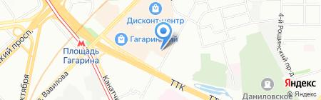 Метеор на карте Москвы