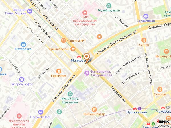 Остановка «Метро Маяковская», 1-я Тверская-Ямская улица (1001919) (Москва)
