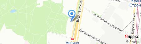 Магазин канцелярских товаров на Варшавском шоссе на карте Москвы