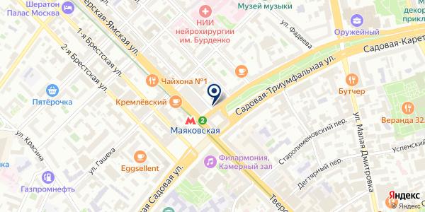 КАФЕ БАТТЕРФЛЯЙ на карте Москве
