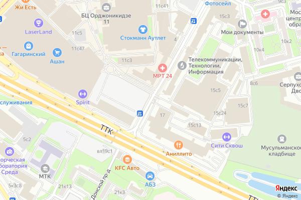 Ремонт телевизоров 5 й Донской проезд на яндекс карте