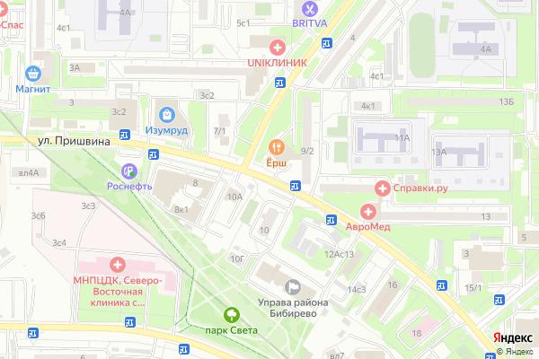 Ремонт телевизоров Улица Пришвина на яндекс карте