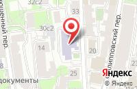 Схема проезда до компании Архитек Ск в Москве