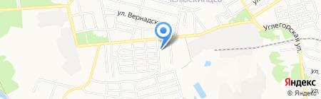 Петровская автошкола на карте Донецка