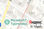 Схема проезда до компании Жеральдин в Москве