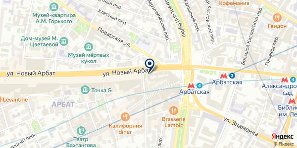 Экран на карте Москве