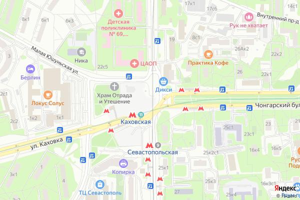 Ремонт телевизоров Метро Каховская на яндекс карте