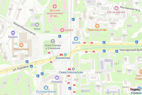 Ремонт телевизоров Улица Азовская на яндекс карте