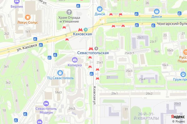 Ремонт телевизоров Метро Севастопольская на яндекс карте