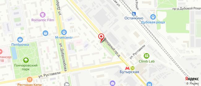Карта расположения пункта доставки Москва Огородный в городе Москва