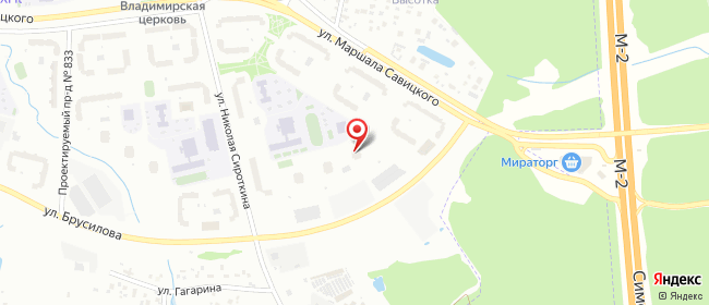 Карта расположения пункта доставки Москва Брусилова в городе Москва