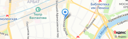 Тайстори на карте Москвы