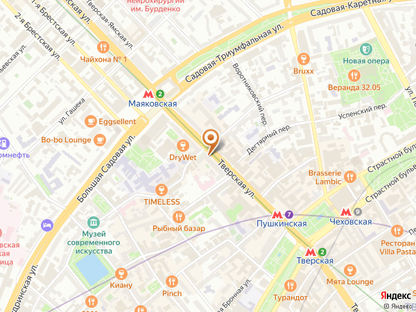 Остановка «Глазная б-ца», Тверская улица (1747) (Москва)