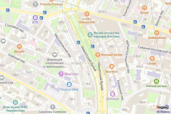 Ремонт телевизоров Никитский бульвар на яндекс карте