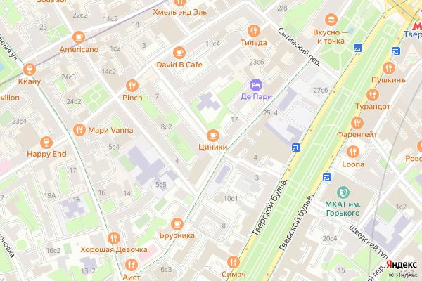 Ремонт телевизоров Богословский переулок на яндекс карте