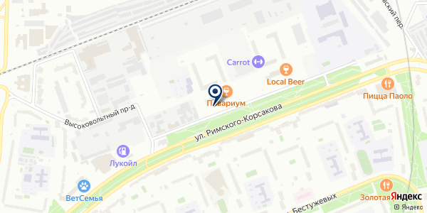 Acover на карте Москве