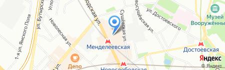 Анакреон-Тревел на карте Москвы