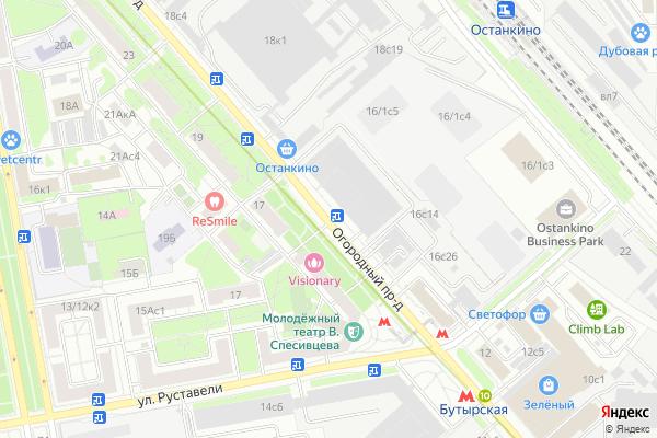 Ремонт телевизоров Огородный проезд на яндекс карте