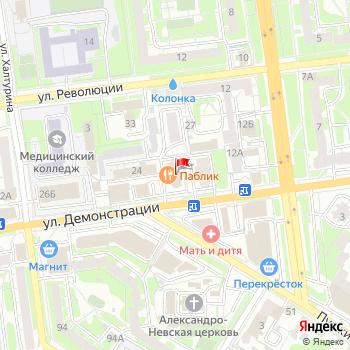 г. Тула, ул. Демонстрации,22 на карта