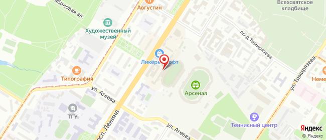 Карта расположения пункта доставки На Ленина в городе Тула