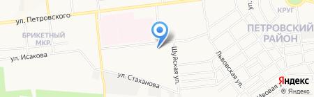 Киоск по ремонту одежды на карте Донецка