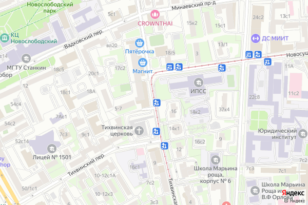 Ремонт телевизоров Улица Тихвинская на яндекс карте